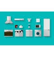 Flat icons for kitchen appliances vector image