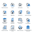 Property Insurance - Blue Series vector image