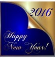 2016 new year gold and dark vector image vector image