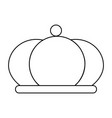 abstract elegant crown vector image vector image