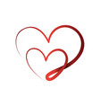 abstract love symbol in flat style vector image vector image