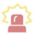 alarm halftone icon vector image