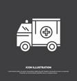ambulance truck medical help van icon glyph vector image vector image