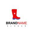 american shoe fashion logo design inspiration vector image vector image