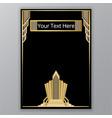 art deco golden black elegant geometric old vector image vector image