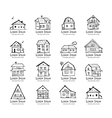 Art houses collection sketch for your design vector image