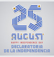 august 25 uruguay independence day congratulatory vector image vector image