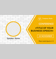 banner template for business meeting vector image vector image