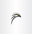 bird hawk icon symbol vector image vector image