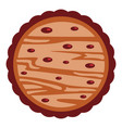 biscuit with drop icon flat style vector image vector image