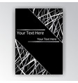 black and white silver page abstract futuristic vector image vector image