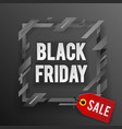 black friday sale tag shop banner design template vector image