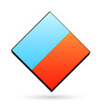 blue and orange color icon clear template cube vector image vector image