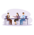 business people meeting managers are talking vector image vector image