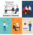 Business Training Concept Composition Banner vector image vector image