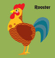 cartoon rooster vector image vector image