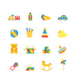 child toys color icons set vector image vector image