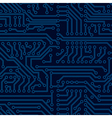 circuit board seamless pattern vector image vector image