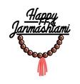 Color vintage janmashtami emblem vector image vector image