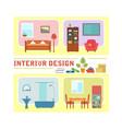 concept interior design vector image vector image