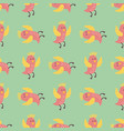 cute birds fly wings seamless pattern vector image vector image