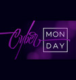 cyber monday typography vector image vector image