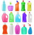 detergent bottle cartoon plastic blank vector image vector image
