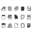Documents icons set vector image vector image