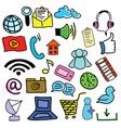 drawn colored picture with computer icons vector image vector image