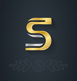elegant gold and silver font Letter S Template for vector image vector image