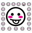 emotion faces icons set vector image