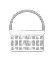 empty market basket vector image