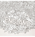 England hand lettering and doodles elements vector image vector image