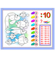 exercises for kids with division number 10 vector image vector image