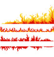 fire banner fame backgrounds vector image vector image