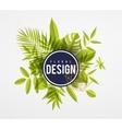 Frame floral lime vector image vector image