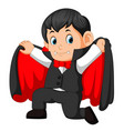 funny cartoon little vampire vector image vector image