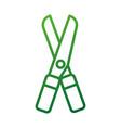 gardening scissors equipment agriculture icon vector image