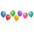 group of cartoon balloons 3 vector image