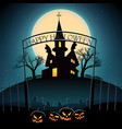 halloween composition on blue background vector image vector image