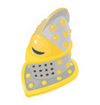 helmet knight icon isometric 3d style vector image vector image