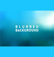 horizontal wide blue sky blurred background vector image vector image