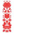 hungarian folk art greeting card or wedding vector image