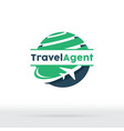 jet aircraft with globe symbol for travel agency vector image vector image