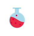laboratory flask chemistry education school icon vector image
