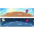 little fairy house on moon cartoon vector image vector image