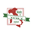 made in italy stamp vector image vector image