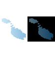 malta island map hex tile scheme vector image vector image