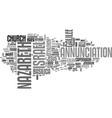 nazareth word cloud concept vector image vector image
