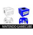 nintendo gamecube vector image vector image
